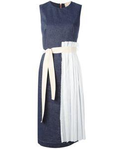 Erika Cavallini | Pleated Trim Dress 48 Cotton/Linen/Flax/Polyester/Acetate