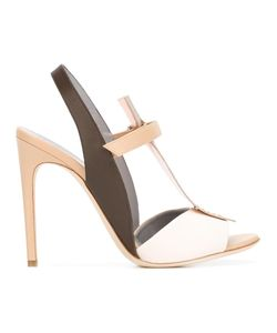 Pollini | Colour Block Sandals 36 Calf Leather/Leather