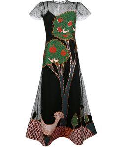 Red Valentino | Расклешенное Платье С Аппликацией