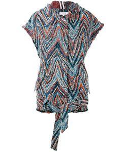 Iro   Sleeveless Zigzag Jacket Size 36