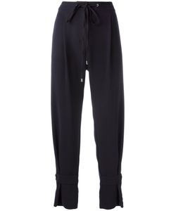 Jil Sander Navy | Drawstring Trousers 36 Polyester/Acetate/Cupro