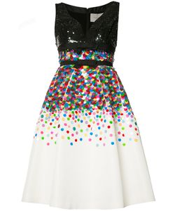 Carolina Herrera | Sequinned Fla Dress 6 Silk/Sequin/Plastic