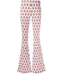 GIAMBA | Printed Flared Trousers Size 42