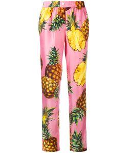 Dolce & Gabbana | Pineapple Print Trousers 44 Silk
