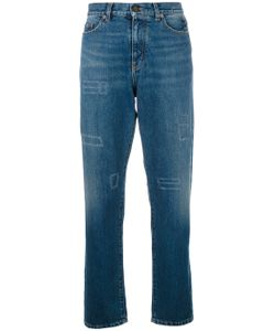 Saint Laurent | High-Waisted Straight Leg Jeans