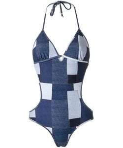 AMIR SLAMA | Panelled Swimsuit G Elastodiene