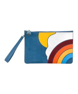 Anya Hindmarch | Rainbow Motif Clutch Suede/Leather