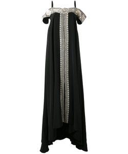 VILSHENKO | Платье С Контрастной Вышивкой