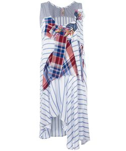 Antonio Marras | Striped Patchwork Dress 42 Viscose/Cotton/Spandex/Elastane