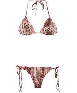 Brigitte | Animal Print Triangle Bikini Set