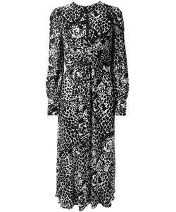 Saint Laurent   Длинное Платье С Тигровым Принтом