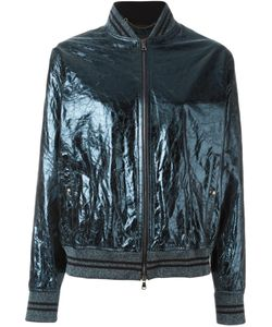 Diesel Black Gold | Cracked Effect Bomber Jacket