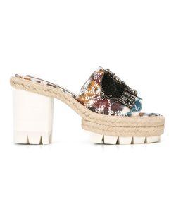 No21 | Embellished Elephant Patch Sandals