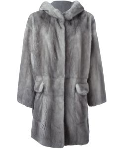 Liska | Hooded Mink Fur Coat