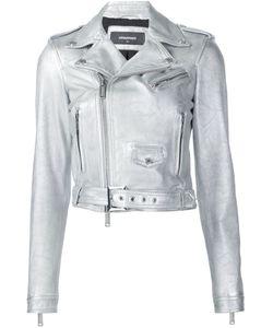 Dsquared2 | Байкерская Куртка С Отделкой Металлик