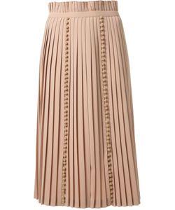TARO HORIUCHI | Pompom Detail Pleated Skirt