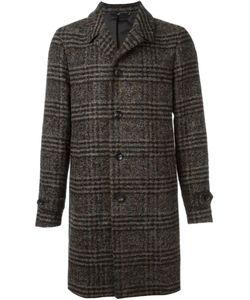 HEVO | Checked Single-Breasted Coat