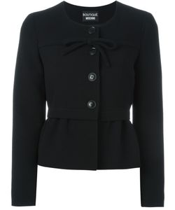 BOUTIQUE MOSCHINO | Front Bow Peplum Jacket