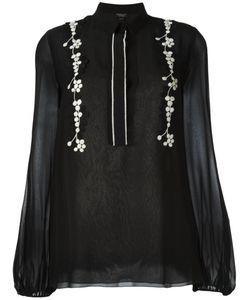 Giambattista Valli | Блузка С Цветочной Вышивкой