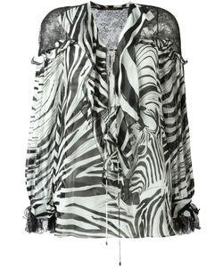 Roberto Cavalli | Блузка С Зебровым Принтом