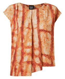 FERNANDA YAMAMOTO | Abstract Print Pleated Blouse