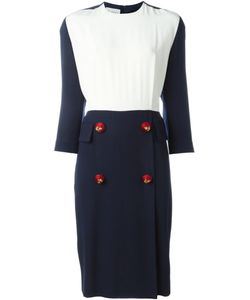 GIANFRANCO FERRE VINTAGE | Contrasting Panel Midi Dress