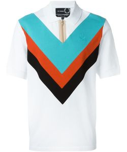 Raf Simons X Fred Perry | Colour Block Zipped Polo Shirt