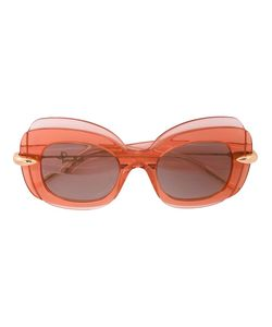 POMELLATO | Contrast Frame Oversized Sunglasses