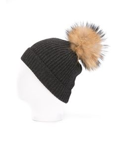 N.PEAL | Detachable Pompom Ribbed Hat