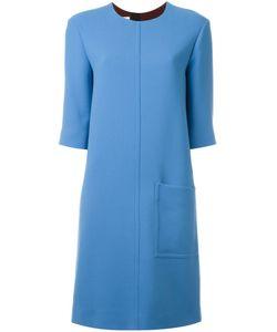 Marni | Платье Шифт С Контрастным Поясом