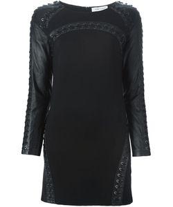 Pierre Balmain | Облегающее Платье С Кожаными Рукавами