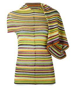 JUNYA WATANABE COMME DES GARCONS | Junya Watanabe Comme Des Garçons Striped Drape Sleeve T-Shirt