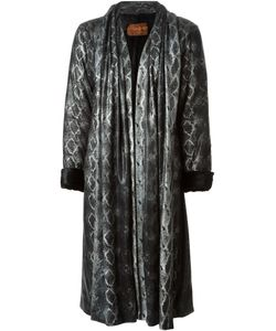 Saint Laurent | Yves Vintage Snakeskin Print Coat