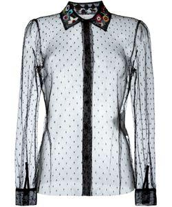 Red Valentino | Прозрачная Рубашка С Вышитым Воротником