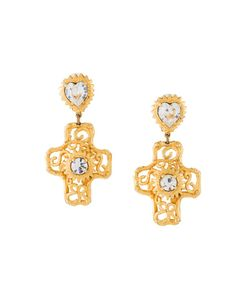 CHRISTIAN LACROIX VINTAGE | Défilé Cross Clip-On Earrings
