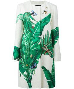 Dolce & Gabbana | Пальто С Банановыми Листьями