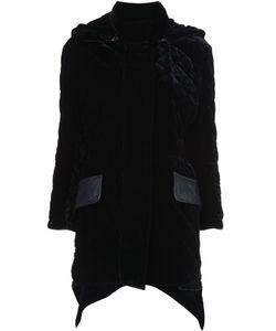 Fendi | Стеганое Пальто С Бархатной Отделкой