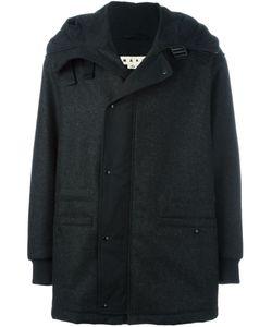 Marni | Меланжевое Пальто С Капюшоном