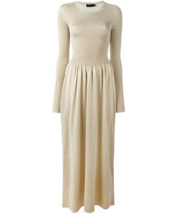 Calvin Klein Collection | Вязаное Платье Макси В Рубчик
