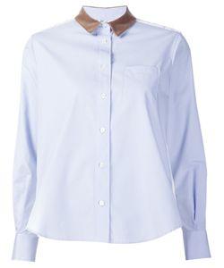 Sacai | Рубашка С Кружевной Вставкой