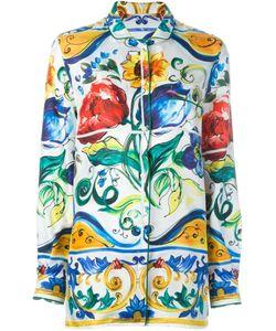 Dolce & Gabbana | Рубашка С Принтом Majolica