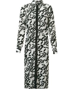 ANDREA MARQUES | Midi Printed Shirt Dress