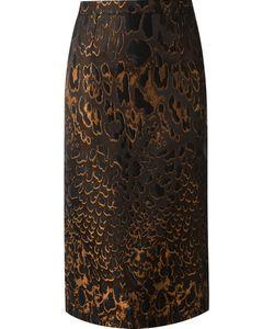 Reinaldo Lourenço | Side Zip Jaguar Fitted Skirt