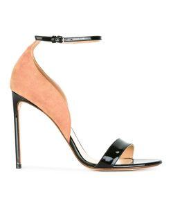 FRANCESCO RUSSO | Bicolour Sandals 36.5 Leather/Suede/Patent Leather