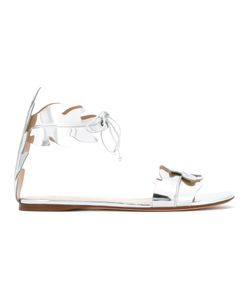 FRANCESCO RUSSO | Leaves Motif Sandals Womens Size 35.5 Bos Taurus/Leather