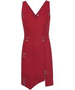Mugler | Асимметричное Платье С Отделкой Пирсингом