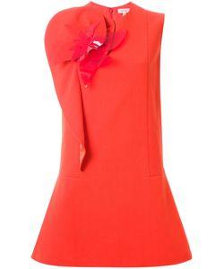 Delpozo | Платье С Цветочной Аппликацией