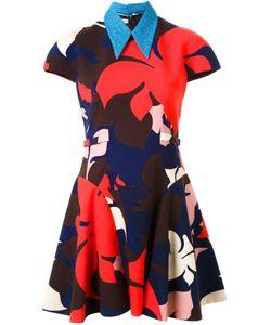 Delpozo | Расклешенное Платье С Цветочным Принтом