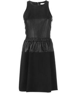 Michael Michael Kors | Расклешенное Платье С Кожаной Панелью