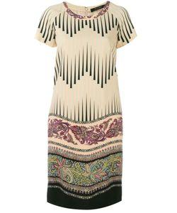 Etro | Платье-Шифт С Комбинированным Принтом